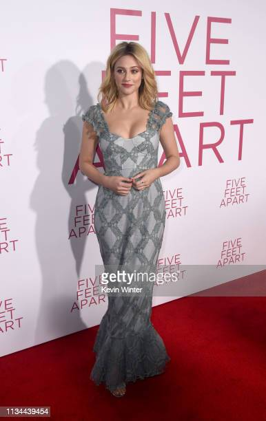 Lili Reinhart arrives at the premiere of CBS Films' Five Feet Apart at the Fox Bruin Theatre on March 07 2019 in Los Angeles California