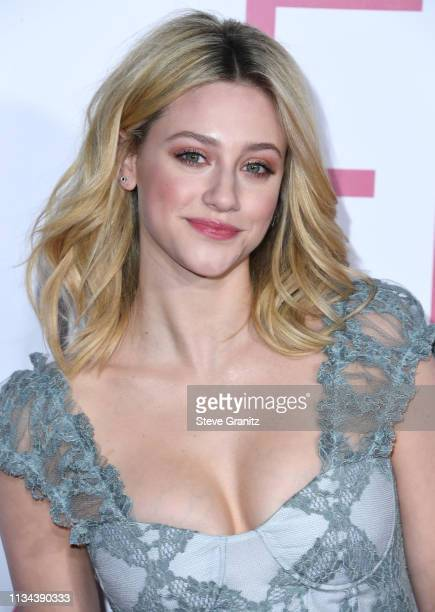 Lili Reinhart arrives at the Premiere of Lionsgate's Five Feet Apart at Fox Bruin Theatre on March 07 2019 in Los Angeles California