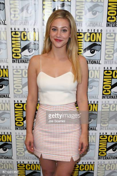 Lili Reinhart arrives at the 'Riverdale' press line at ComicCon International 2017 on July 22 2017 in San Diego California
