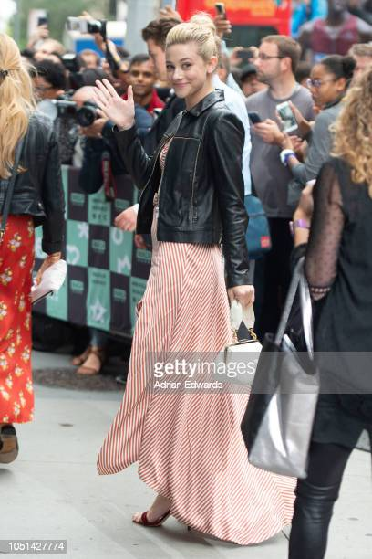Lili Reinhart at AOL Live Build Series on October 8 2018 in New York City