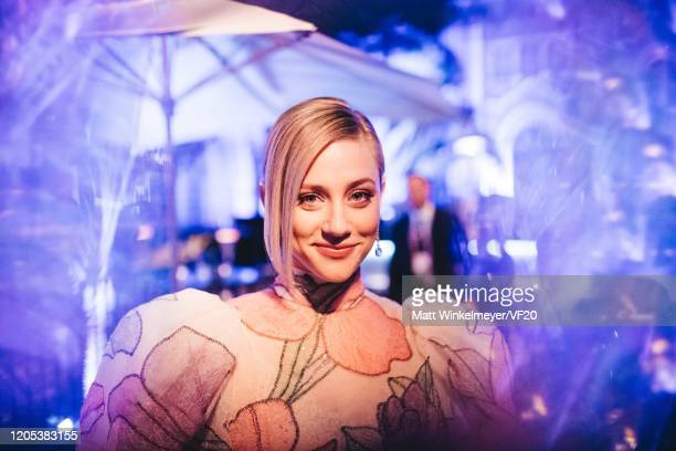 Lili Reinhart attends the 2020 Vanity Fair Oscar Party Hosted By Radhika Jones at Wallis Annenberg Center for the Performing Arts on February 09,...