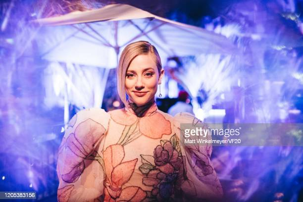Lili Reinhart attends the 2020 Vanity Fair Oscar Party Hosted By Radhika Jones at Wallis Annenberg Center for the Performing Arts on February 09 2020...