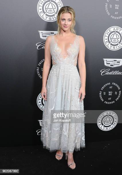 Lili Reinhart attends The Art Of Elysium's 11th Annual Celebration Heaven at Barker Hangar on January 6 2018 in Santa Monica California