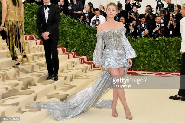 Lili Reinhart attends the Heavenly Bodies Fashion The Catholic Imagination Costume Institute Gala at The Metropolitan Museum of Art on May 7 2018 in...