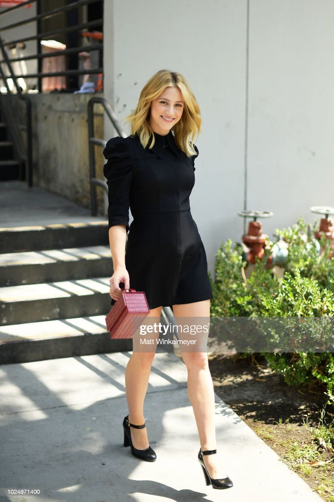 Lili Reinhart attends the new H&M Westfield Century City opening at Century City Mall on August 28, 2018 in Century City, California.