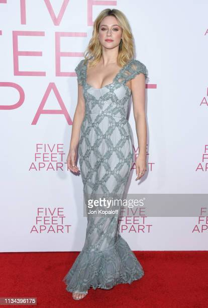 Lili Reinhart attends the premiere of Lionsgate's Five Feet Apart at Fox Bruin Theatre on March 07 2019 in Los Angeles California