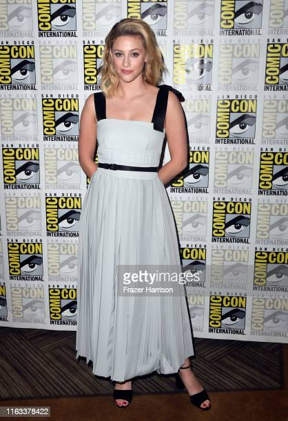"Lili Reinhart attends the ""Riverdale"" Photo Call during 2019 Comic-Con International at Hilton Bayfront on July 21, 2019 in San Diego, California."