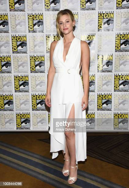 Lili Reinhart attends the 'Riverdale' Press Line during ComicCon International 2018 at Hilton Bayfront on July 21 2018 in San Diego California