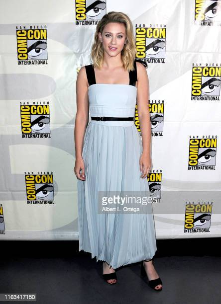 Lili Reinhart attends the Riverdale Special Video Presentation and QA during 2019 ComicCon International at San Diego Convention Center on July 21...
