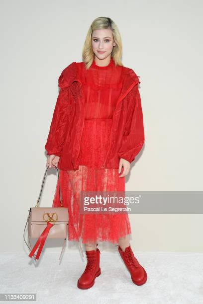 Lili Reinhart attends the Valentino show as part of the Paris Fashion Week Womenswear Fall/Winter 2019/2020 on March 03 2019 in Paris France