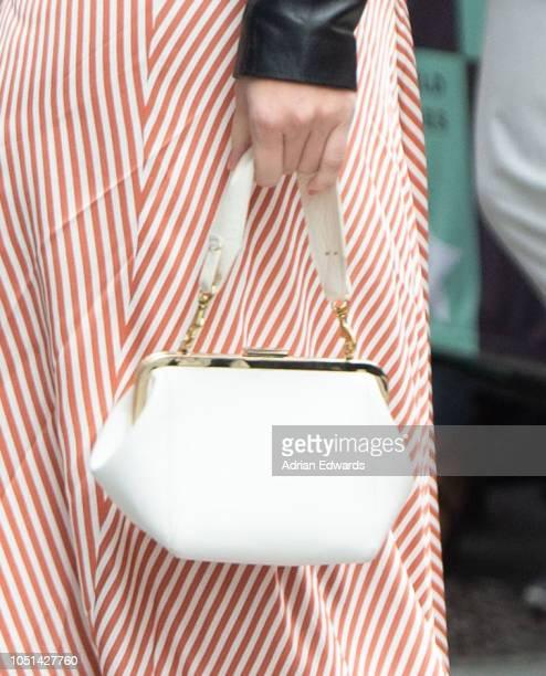 Lili Reinhart handbag detail at AOL Live Build Series on October 8 2018 in New York City