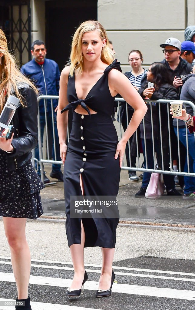 Lili Reinhart is seen walking in midtown on May 17, 2018 in New York City.
