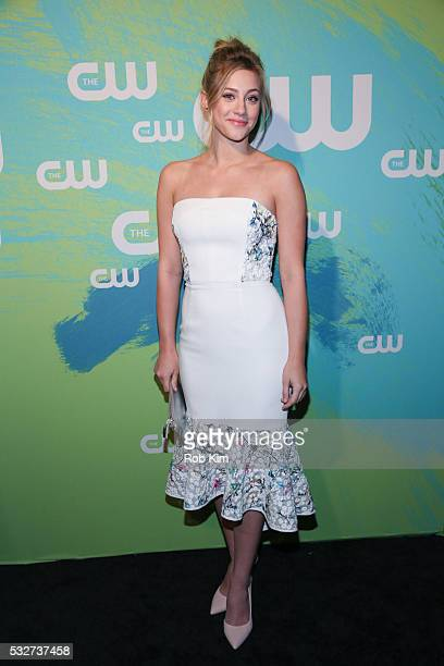Lili Reinhart of the series 'Riverdale' attends The CW Network's 2016 New York Upfront Presentation at The London Hotel on May 19 2016 in New York...