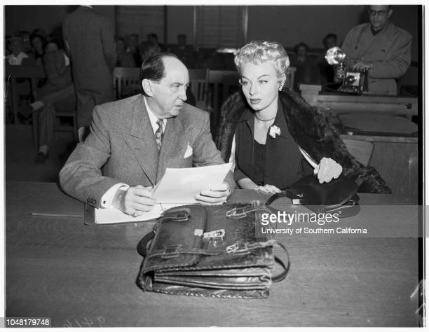 Lili Saint Cyr caseBeverly Hills Court 3 December 1951 Mrs Ann HunterLili Saint CyrJerry GeislerArmando Orsini husband of LiliCaption slip reads...