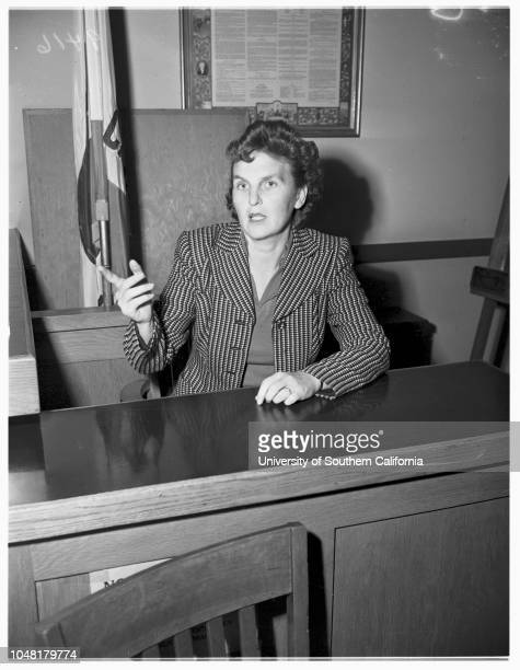 Lili Saint Cyr caseBeverly Hills Court 3 December 1951 Mrs Ann HunterLili Saint CyrJerry GeislerArmando Orsini husband of LiliCaption slip reads...