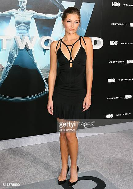 Lili Simmons attends the premiere of HBO's 'Westworld' on September 28 2016 in Hollywood California