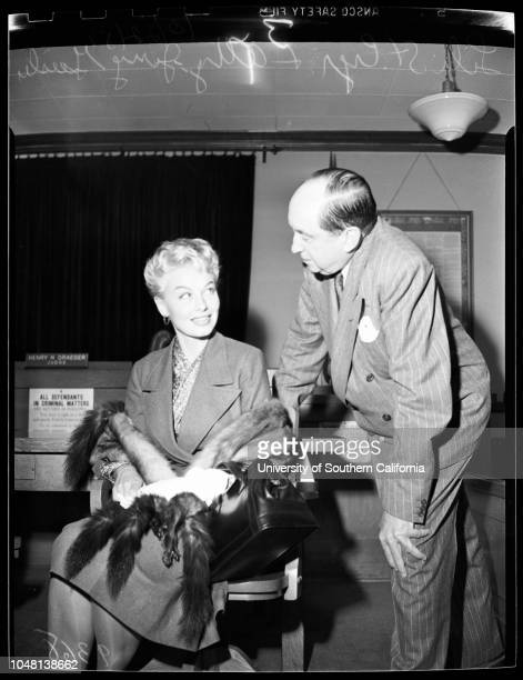 Lili St Cyr in Court 22 October 1951 Lili St Cyr Attorney Jerry GeislerHerman D Hover