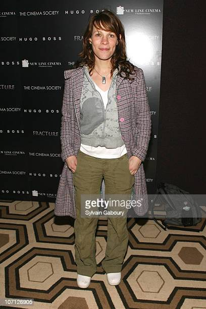 """Lili Taylor during """"Fracture"""" Special Screening Hosted by The Cinema Society and Hugo Boss - Inside Arrivals at Tribeca Grand Hotel Screening Room at..."""