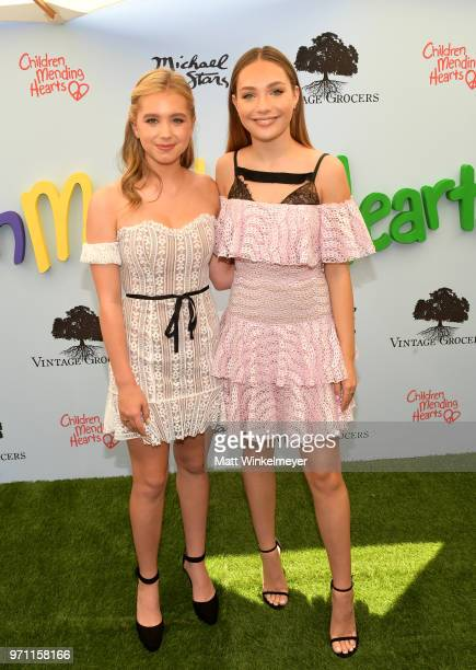 Lilia Buckingham and Maddie Ziegler attend Children Mending Hearts' 10th Annual Empathy Rocks on June 10 2018 in Los Angeles California