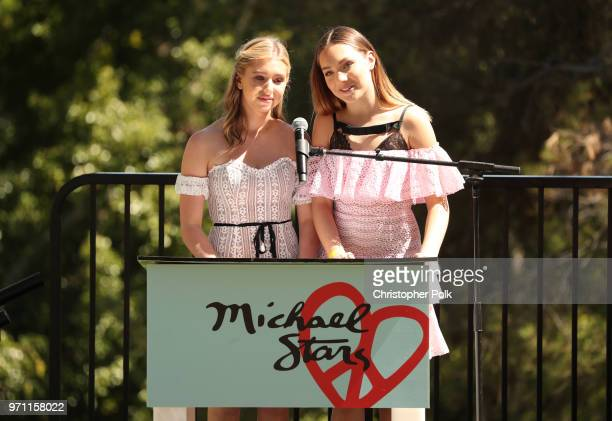 Lilia Buckingham and Maddie Ziegler speak onstage at Children Mending Hearts' 10th Annual Empathy Rocks on June 10 2018 in Los Angeles California