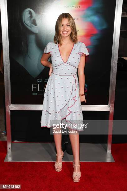 Lilia Buckingham attends the premiere of Columbia Pictures' 'Flatliners' at The Theatre at Ace Hotel on September 27 2017 in Los Angeles California