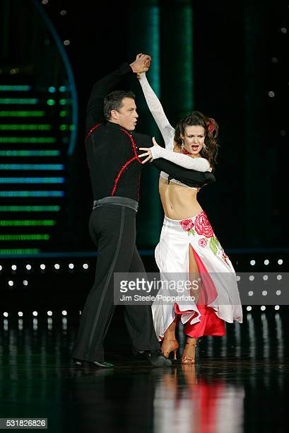 Lilia Kopylova and Darren Gough performing on stage during the Strictly Come Dancing Live event at Wembley Arena in London on the 25th January 2008