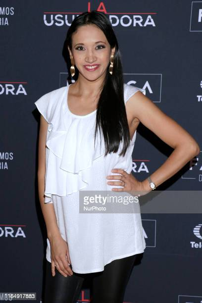 Lilia Mendoza poses for photos during a red carpet of premiere 'La Usurpadora' Tv Screening soap opera at Club de Banqueros on August 29 2019 in...