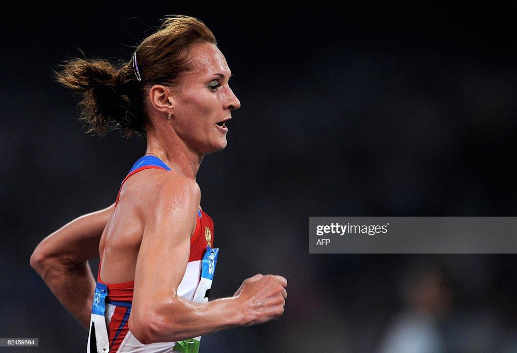 Lilia Shobukhova of Russia competes duri : News Photo