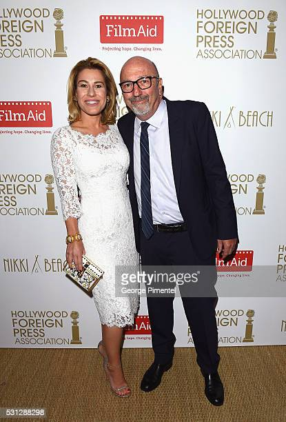 Lilia Soria and Lorenzo Soria attend The Hollywood Foreign Press Association Honour Filmaid International party during The 69th Annual Cannes Film...