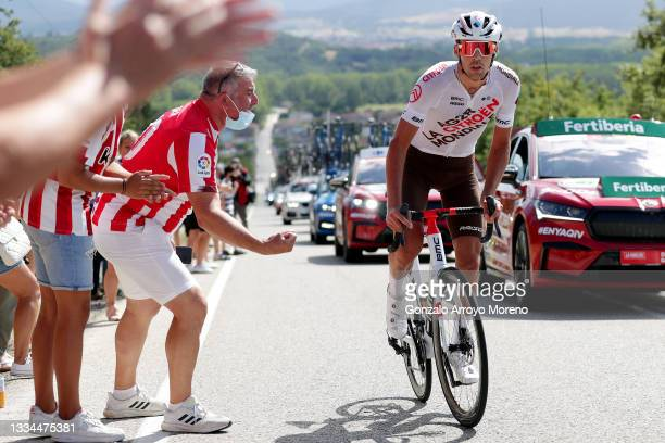 Lilian Calmejane of France and AG2R Citröen Team competes in the breakaway during the 76th Tour of Spain 2021, Stage 3 a 202,8km stage from Santo...