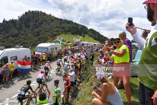 Lilian Calmejane of France and Team Direct Energie / Lawson Craddock of The United States and Team EF Education First - Drapac P/B Cannondale / Col...
