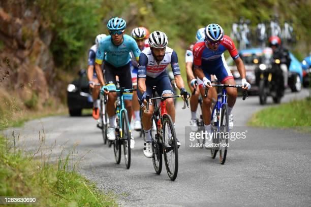 Lilian Calmejane of France and Team Total Direct Energie / Harold Tejada Canacue of Colombia and Astana Pro Team / Julien Bernard of France and Team...
