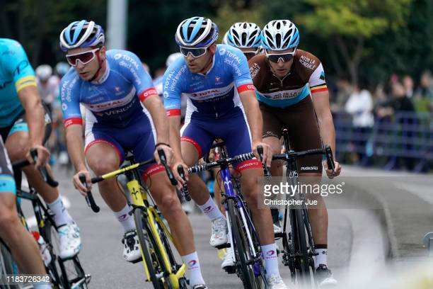 Lilian Calmejane of France and Team Total Direct Energie / Oliver Naesen of Belgium and Team AG2R La Mondiale / during the 7th Tour de France Saitama...