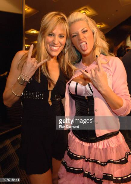 Lilian Garcia and Ashley during 2006 MTV Video Music Awards MTV Presents the 2006 VMA Forum at Radio City Music Hall in New York City New York United...