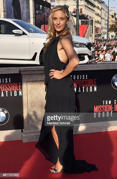 Lilian Klebow poses at the world premiere for the film 'Mission Impossible Rogue Nation' at Staatsoper on July 23 2015 in Vienna Austria