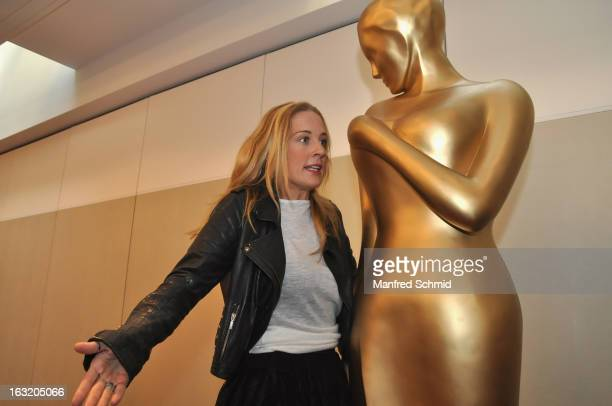 Lilian Klebow poses during the press conference for Kurier Romy Gala 2013 at Kempinsky Hotel Wien on March 6 2013 in Vienna Austria