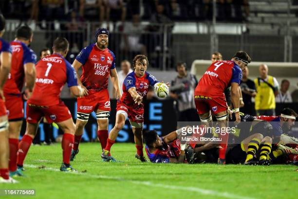 Lilian Saseras of Grenoble during the Pro D2 match between Carcassonne and Grenoble on August 29, 2019 in Carcassonne, France.