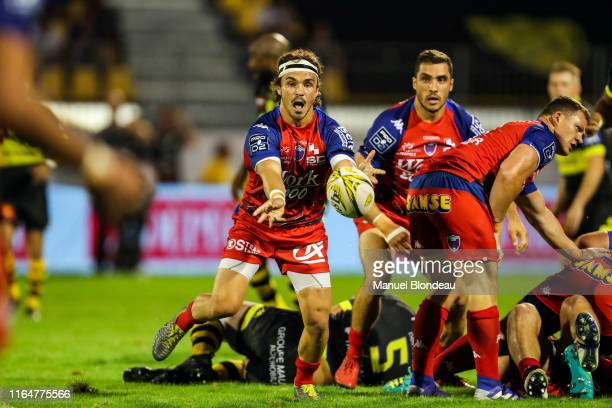 Lilian Saseras of Grenoble during the Pro D2 match between Carcassonne and Grenoble on August 29 2019 in Carcassonne France