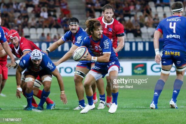 Lilian SASERAS of Grenoble during the Pro D2 match between Grenoble and Aurillac on September 13, 2019 in Grenoble, France.
