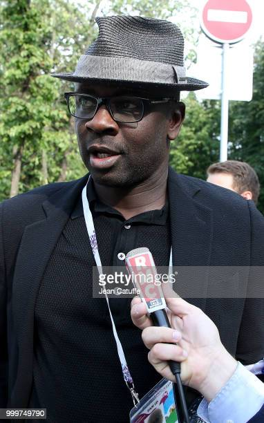 Lilian Thuram arrives to attend the 2018 FIFA World Cup Russia Final match between France and Croatia at Luzhniki Stadium on July 15 2018 in Moscow...