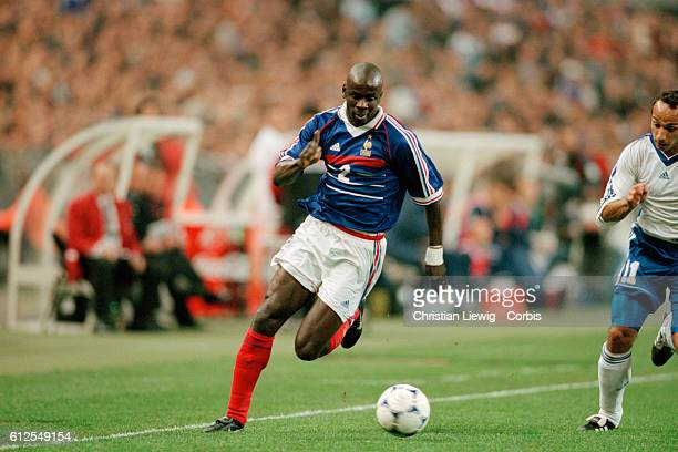 Lilian Thuram in action during a qualifying match for the 2000 UEFA Euro against Armenia France won 20 | Location Saint Denis France