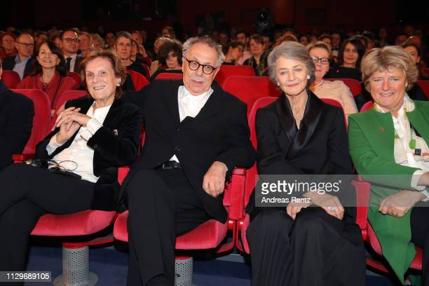 Liliana Cavani Festival director Dieter Kosslick Charlotte Rampling and Monika Gruetters attend the Homage Charlotte Rampling Honorary Golden Bear...