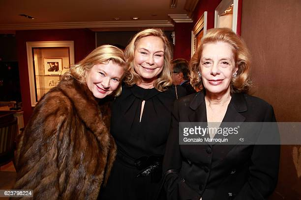 Liliana Cavendish Ala von Auersperg and Cathy Erwin at the Mita Corsini Ritchey Howe Nico Landrigan Host Cocktail for Ala von Auersperg Collection at...
