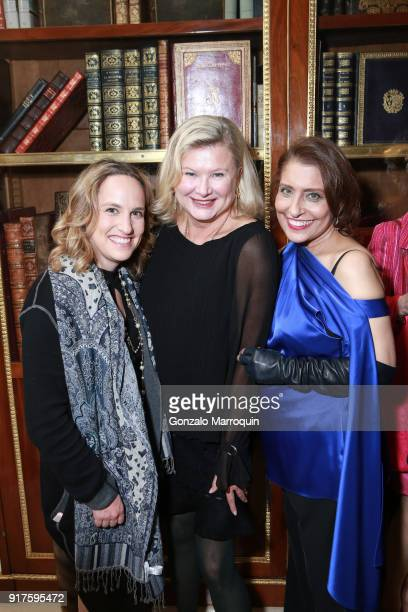 Liliana Cavendish and Muna Rihani AlNasserduring the Susan Gutfreund Hosts UN Women For Peace Association Reception on February 12 2018 in New York...