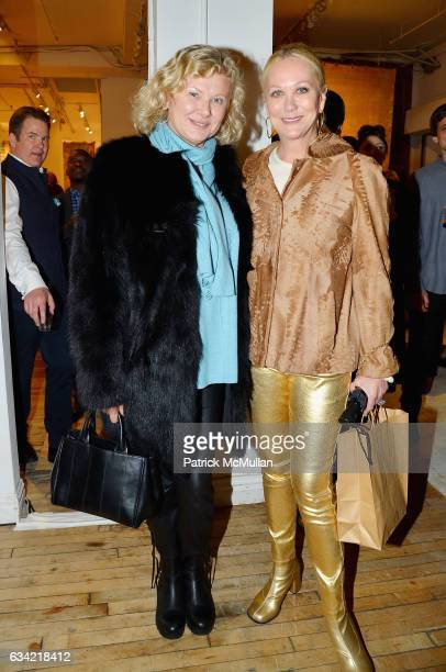 Liliana Cavendish and Nina Griscom attend the ABC Carpet Home and Obeetee Celebrate the Launch of the Tarun Tahiliani Rug Collection at ABC Carpet on...