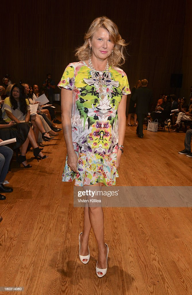 Liliana Cavendish is seen on the front row at the Douglas Hannant fashion show during Mercedes-Benz Fashion Week Spring 2014 on September 11, 2013 in New York City.