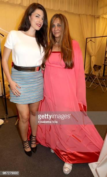 Liliana Fiorelli and Paola Emilia Monachesi attend Sfilata AU197SM AltaRoma on June 29 2018 in Rome Italy