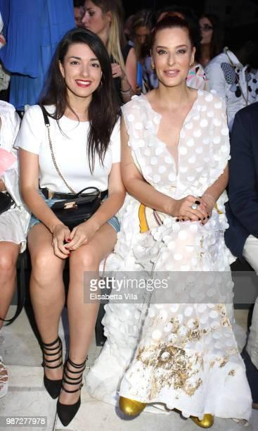 Liliana Fiorelli and Simona Borioni attend Sfilata AU197SM AltaRoma on June 29 2018 in Rome Italy