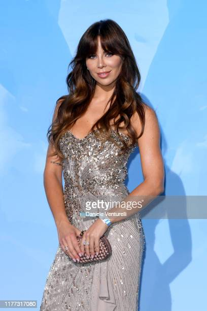 Liliana Leonova attends the Gala for the Global Ocean hosted by H.S.H. Prince Albert II of Monaco at Opera of Monte-Carlo on September 26, 2019 in...