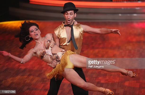 Liliana Matthaeus and Massimo Sinato perform during the 'Let's Dance' TV show at Coloneum on April 27 2011 in Cologne Germany
